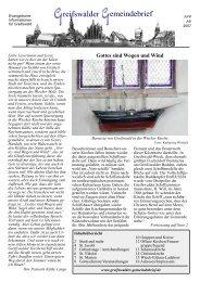 Juni/Juli 2007 - Greifswalder Gemeindebrief