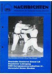DKU-Nachrichten Nr. 2 - Chronik des deutschen Karateverbandes