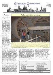 August/September 2007 - Greifswalder Gemeindebrief