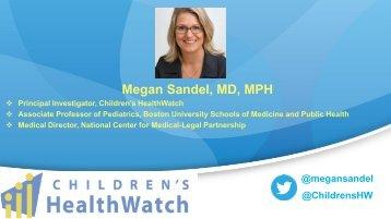 Megan Sandel MD MPH