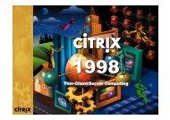 APM and CITRIX - Ansa