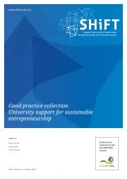 Good practice collection University support for sustainable entrepreneurship