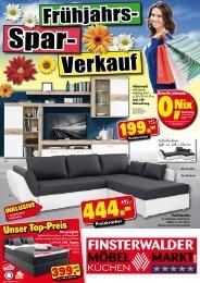Frühjahrs-Spar-Verkauf im Finsterwalder Möbelmarkt!