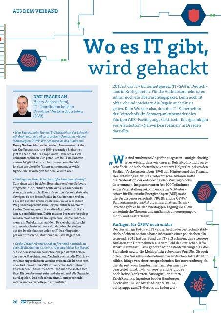 VDV Das Magazin Ausgabe Mai 2016