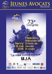 JEUNES AVOCATS MAGAZINE 118 - SPECIAL CONGRES