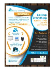 Backup Everything Business