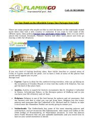 Affordable Europe Tour Packages from India 2016 | Flamingo Travels