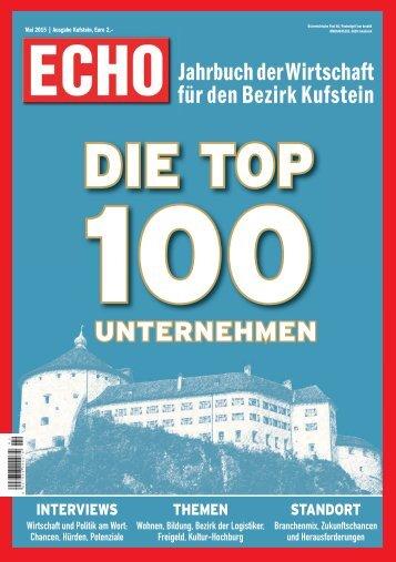 ECHO Wirtschaft Top100 Kufstein 2015
