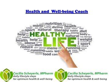 Health and Well-being Coach