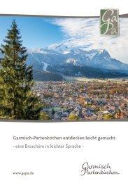 Garmisch-Partenkirchen entdecken leicht gemacht - Broschüre in leichter Sprache