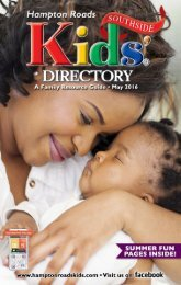Hampton Roads Kids' Directory: Southside Edition - May 2016