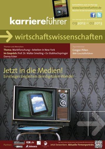 Download karriereführer wirtschaftswissenschaften 2.2012 (ca. 17 MB)