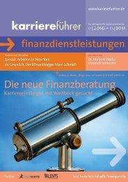 Die neue Finanzberatung - Karrierefuehrer.de