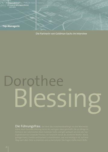 Interview mit Dorothee Blessing als PDF ansehen - Karrierefuehrer.de
