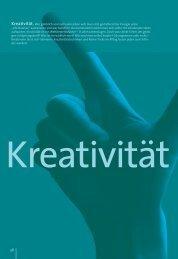 Kreativitäts-Special aus dem karriereführer hochschulen 1.2008