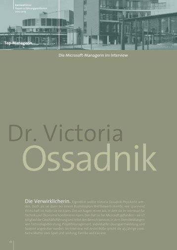 Dr. Victoria Ossadnik, Microsoft Deutschland - Karrierefuehrer.de