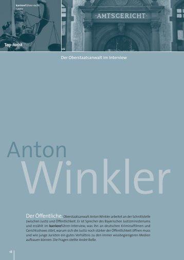Interview mit Anton Winkler als PDF ansehen - Karrierefuehrer.de
