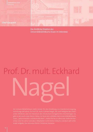 Interview mit Prof. Dr. mult. Eckhard Nagel als PDF ansehen
