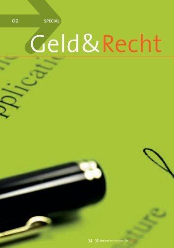Thema Arbeitsvertrag im Special Geld & Recht - Karrierefuehrer.de