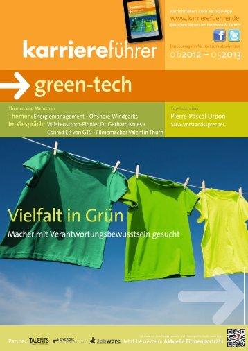 green-tech - Karrierefuehrer.de