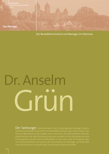 Interview mit Dr. Anselm Grün als PDF ansehen - Karrierefuehrer.de