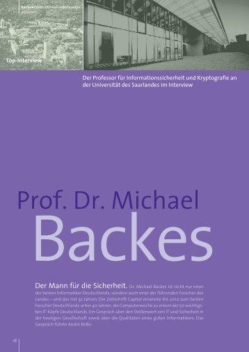 Interview mit Prof. Dr. Michael Backes als PDF ansehen
