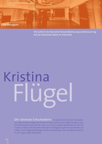 Interview mit Kristina Flügel als PDF ansehen - Karrierefuehrer.de