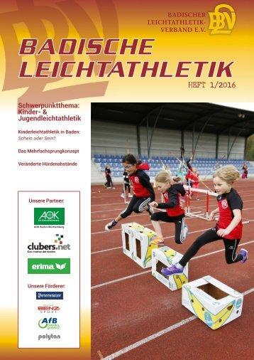 Badische Leichtathletik - HEFT 1/2016