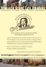 Brasserie Amadeus menu FR