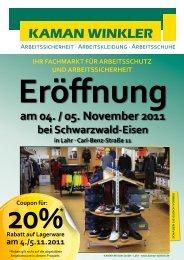 am 04. / 05. November 2011 - KAMAN Winkler GmbH
