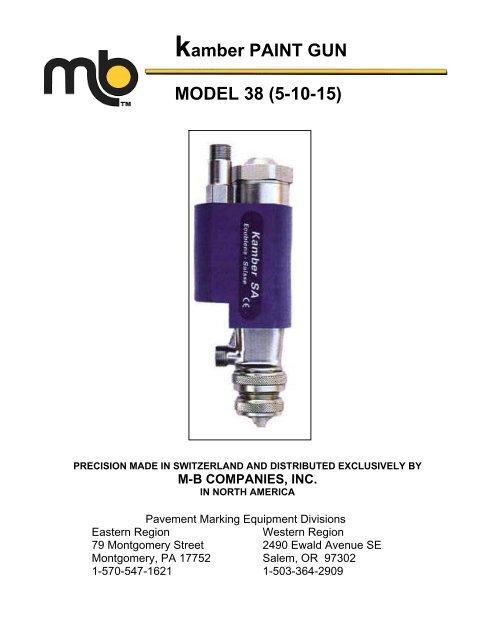 kamber PAINT GUN MODEL 38 (5-10-15) - M-B Companies, Inc