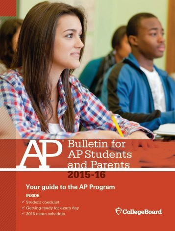 Bulletin for AP Students and Parents