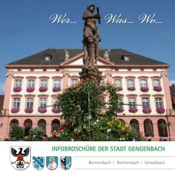 WerWasWo - Infobroschüre der Stadt Gengenbach