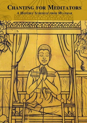 Chanting for Meditators (A Monthly Schedule from Myanmar)