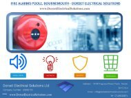 Fire Alarms Poole, Bournemouth - Dorset Electrical Solutions