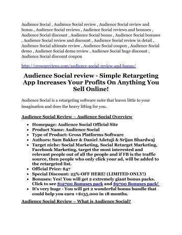 Audience Social review - Audience Social (MEGA) $23,800 bonuses