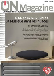 ON Magazine - Guide Hi-Fi connectée 2016
