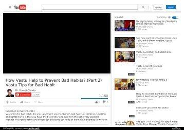 Get Rid Of Bad Habit Vastu Tips