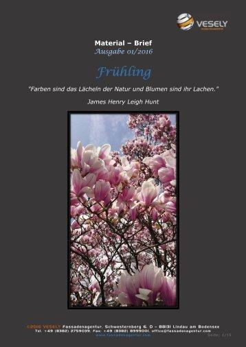 """Materialbrief """"Frühling"""""""