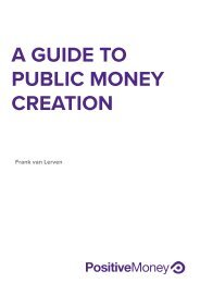 A GUIDE TO PUBLIC MONEY CREATION