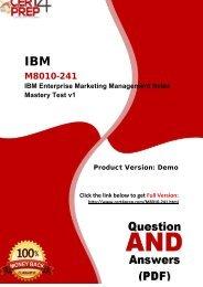 Cert4Prep M8010-241 Certification Exam Training Guides