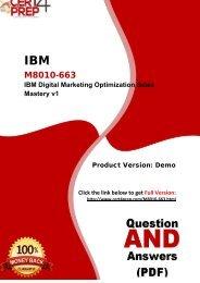 Cert4Prep M8010-663 Certification Exam Training Guides