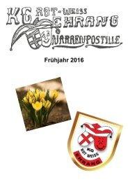 Narrenpost Frühjahr 2016