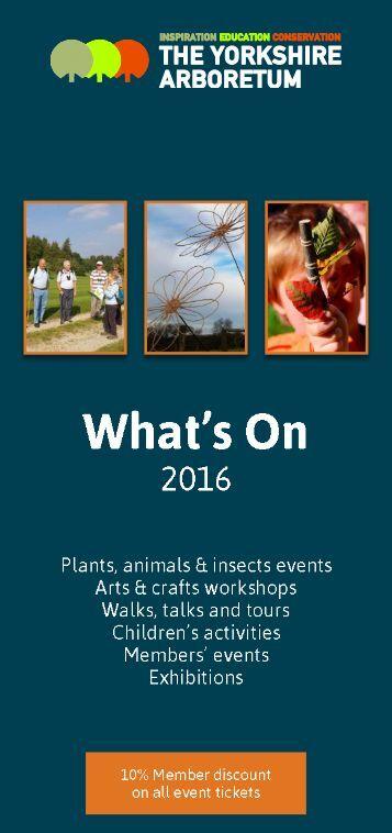Yorkshire Arboretum - What's On 2016 - web