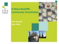 St Mary Redcliffe Community Consultation Final Report