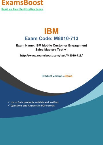 ExamsBoost M8010-713 Exam Real Practice Test