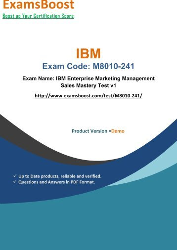 ExamsBoost M8010-241 Exam Real Practice Test