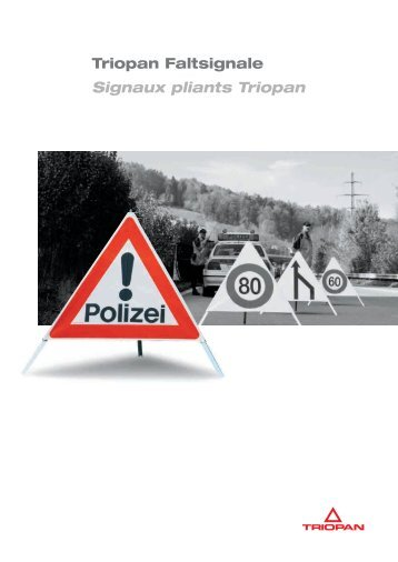 Faltsignal Zubehör Signaux pliants accessoires - Triopan AG