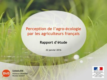 Perception de l'agro-écologie par les agriculteurs français