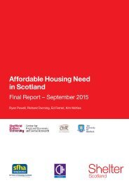 Affordable Housing Need in Scotland